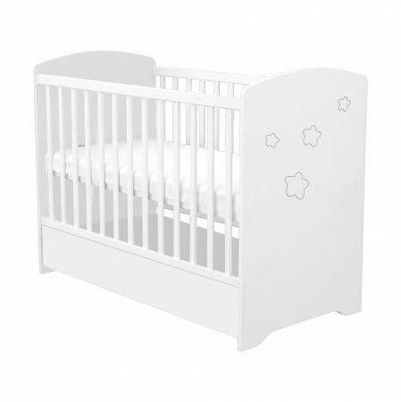 Zárt végű ágyneműtartós gyermekágy Fehér