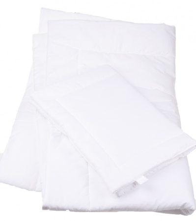 BabyBruin 100 % Pamut, fehér, 2 részes gyerek ágynemű garnitúra