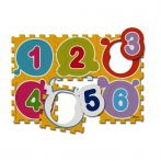 Számok Puzzle - mosható szőnyeg 6 db-os