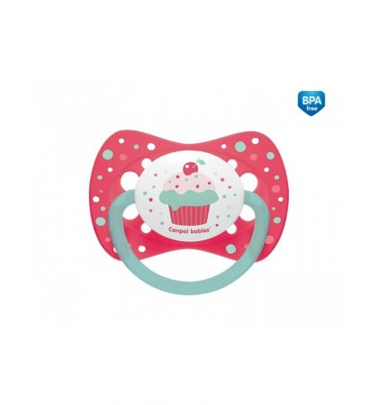 Canpol babies nyugtató cumi Cupcake - szilikon, szimmetrikus