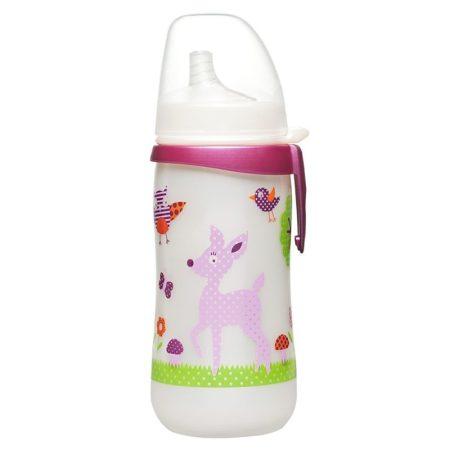 35050 NIP első itató pohár szilikon itatócsőrrel 330ml lányos 12+ lányos