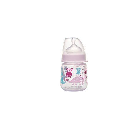 35055 NIP PP széles szájú cumisüveg 150ml szilikon tejes etetőcumival