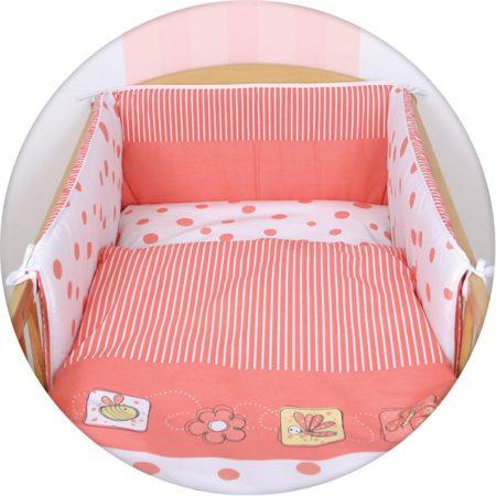 Ceba 3 részes gyerek ágynemű garnitúra bélelt fejvédővel