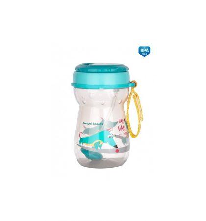 Canpol babies Innovatív Flip-top sport itatópohár szívószállal 350 ml