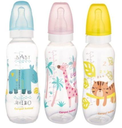 Canpol Formázott műanyag cumisüveg - 330 ml (12 h+)