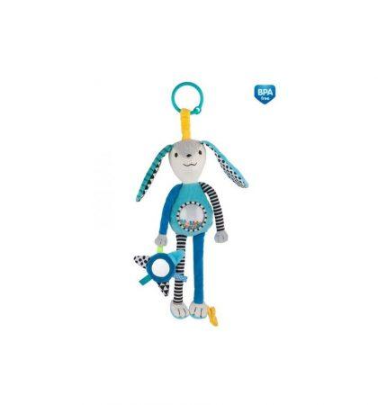 Canpol babies Plüssjáték csörgővel és tükörrel 0 hó+ Zig Zag