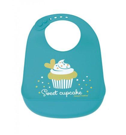 Canpol babies szilikonból készült előke Cupcake
