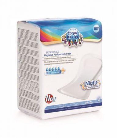 Canpol babies Breathable Hygiene Postpartum Pads Night 10 pcs gyerekágyas betét