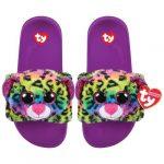 Ty Fashion papucs DOTTY - színes leopárd