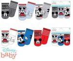 Disney Mickey baba zokni 0-12 hó  3db/csomag