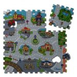 Chicco City Puzzle - 9db-os habtapi, mosható